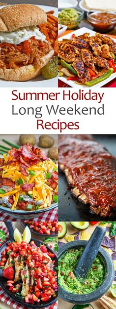 Summer Holiday Long Weekend Recipes