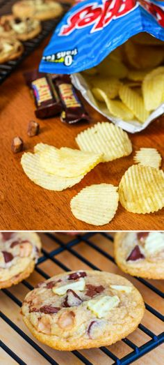 Potato Chip Toffee Cookies...um...need to try these!