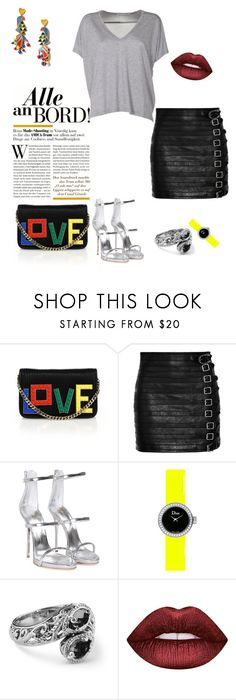 """""""Untitled #46"""" by darklady03 ❤ liked on Polyvore featuring Les Petits Joueurs, Gucci, Giuseppe Zanotti, Christian Dior, Tory Burch, Lime Crime and Acne Studios"""