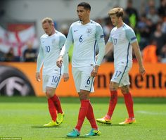 Hart's dejection is mirrored by his England team-mates Chris Smalling, Wayne Rooney and Eric Dier