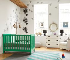 Little Rockstar Nursery Design                     stars on wall,!!!!<3<3