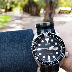 #seiko #SKX007 // sexy, affordable and versatile - a must have for any collection #natostrapsau