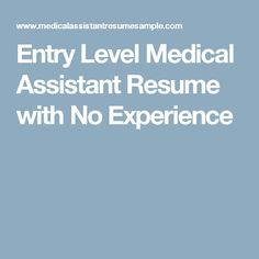 Good Objective For A Resume Entry Level Medical Assistant Resume With No Experience  Resume  Editorial Assistant Resume Pdf with Bilingual On Resume Entry Level Medical Assistant Resume With No Experience Law School Resume Template Pdf