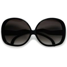 Extra Large Oversized Women's Round Frame Designer Inspired Indie... ($10) ❤ liked on Polyvore featuring accessories, eyewear, sunglasses, oversized glasses, round sunglasses, round frame sunglasses, over sized sunglasses and oversized black sunglasses