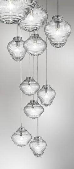Handmade blown glass pendant lamp BONNIE E CLYDE | Pendant lamp - Zafferano