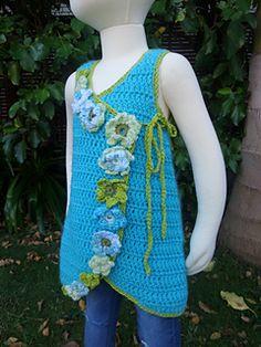 Ravelry: Crossover Crochet Flower Dress pattern by Alley J. Flower Patterns, Crochet Patterns, Flower Dresses, Baby Dresses, Toddler Sweater, Baby Girl Crochet, Crochet Flowers, Crossover, Crochet Projects