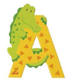 Lettres alphabet Zoo en bois<BR>Lettre A<BR>SEVI
