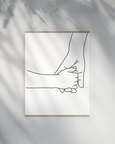 Holding Hands Line Art Printable, Minimalist Nursery Prints Wall Art, Mom Child Hands Print - Motherhood & Child Photos Hand Holding Tattoo, Holding Hands Drawing, Kids Room Art, Art For Kids, Child Room, Nursery Prints, Wall Art Prints, Nursery Paintings, Art Minimaliste