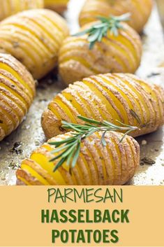 These Easy Hasselback Potatoes will make a delicious vegetarian side dish but also good enough for backyard bbq party. #potatorecipes #bakedpotatoes #hasselbackpotatoes #sidedishes #sidedishrecipes #easysidedishes