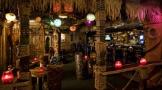 Frankies Tiki Room Travel Vacation Ideas Road Trip Places to Visit Las Vegas NV Casino Offbeat Attraction Nightlife Spot Bar Best Family Vacation Destinations, Vacation Ideas, Family Vacations, Outdoor Tiki Bar, Tiki Art, Tiki Tiki, Tiki Head, Cocktails Bar, Cocktail Recipes