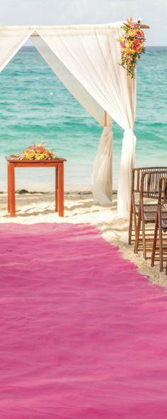 Beach ceremony at Riu Palace Bavaro in Punta Cana, Dominican Republic - Walk down the aisle - romantic destination wedding in Arena Gorda Beach, Dominican Republic - Weddings By RIU
