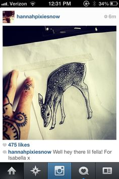 Hannah Snowdon's pointillism dear, I want it!