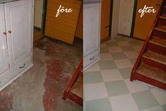 Bildresultat för måla rutigt golv