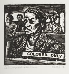 "Elizabeth Catlett (1915-2012) - 1946-47, ""The Negro Woman"" or ""I am the black woman"", 14 - I have special reservations"