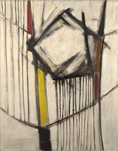 Sir Terry Frost, R. , red, black and white, winter 1956 oil on board Abstract Drawings, Abstract Art, Abstract Paintings, Abstract Expressionism, Yorkie, Black And White, Red Black, Frost, Monochrome