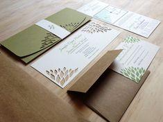 Schlichte Eleganz Hochzeitseinladung - handgemachte Hochzeitseinladung - SAMPLE-