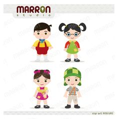 This Chavo del ocho set clipart can be use for invitation, design card, paper product, scrapbooking or any type of craft  You will receive 4 separate JPG, PNG files created at 300 dpi to be used as a great graphic with almost any software program. The files will be sent to your email contained ...