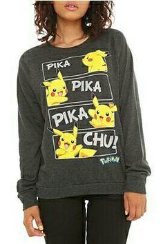 Pikachu sweater  I #pikachu #pokemon #pokemongo #pikachulover #pokemontrainer #pkmn #pokeball #pokemonsunandmoon #kawaii #pokemony