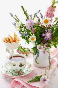 tea and flowers...the joy of life :)