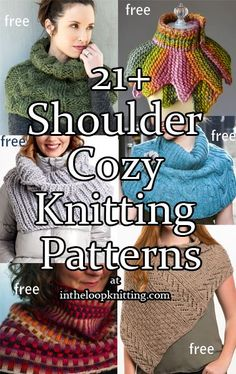 Knitting Patterns for Shoulder Cozy Cowls and Wraps. Most patterns are free