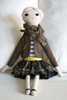 Alice - by littleladies OOAK handmade rag doll