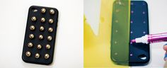 Mobile case punk studs. Love.    http://www.collagevintage.com/2012/01/diy-mobile-phone-studded-cover-case.html
