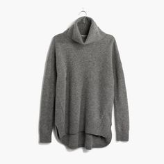 Madewell Sweater The Always Turtleneck Sweater. The perfect slouchy shape with a shirttail hem. Super soft and cozy wool. Free Clothes, Clothes For Women, Grey Turtleneck, Cozy Sweaters, Oversized Sweaters, Thick Sweaters, Pullover Sweaters, Woman Clothing, Bonjour