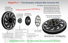 Electric bike Motor, bike conversion kit, magic pie 3, MP3