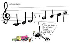 Women are so hard on themselves ... So are these QUARTER notes !!!  :)