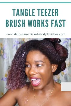 The tangle teeter brush DOES NOT break or damage your hair. It works fast and does an excellent job. 4c Natural Hair, Natural Hair Growth, Natural Hair Styles, Best Brushes, Deep Conditioning, African American Hairstyles, Hair Videos, Tangled, Hair Care