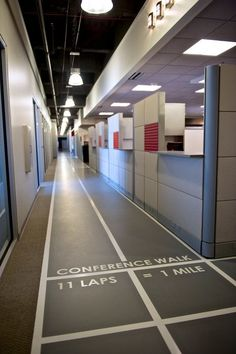 1-800-LAW-FIRM headquarters in Southfield, Michigan :: Walking track for walk-and-talk meetings.....