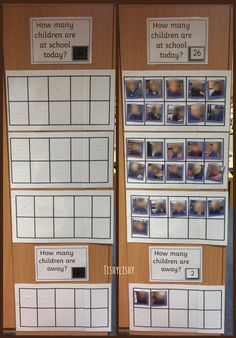 How many are here today? Ten frames and photos of the class. Will use this as part of our morning routine.