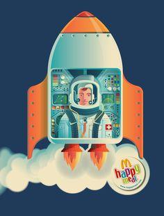 Illustrations for a MacDonalds children's activity brochure.