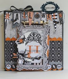 TERESA COLLINS DESIGN TEAM: Halloween Canvas with Mini Flip Book by @Suzanne Sergi
