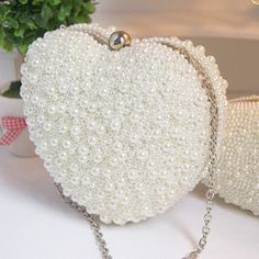 Wedding Bags Pearl Sweetheart Clutch Bags Pearl by laceNbling