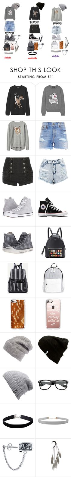 """Bambi and Thumper"" by countrycowgirl-1718 on Polyvore featuring Markus Lupfer, Disney, R13, Pierre Balmain, Boohoo, Converse, Fendi, Poverty Flats, Casetify and Rebecca Minkoff"