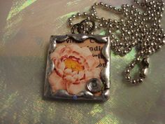 GARDEN QUEEN  Soldered Art Glass Pendant by victoriacharlotte, $10.00
