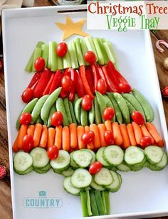 Christmas Tree Veggie Tray | Christmas Dinner Ideas Guaranteed To Make The Night Memorable