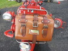Leather Vespa bag