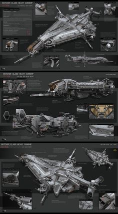 Butcher Class Heavy Gunship by KaranaK on DeviantArt