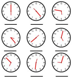 ... - Time on Pinterest | Telling time, Math worksheets and Worksheets