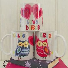 print & pattern: disco butterfly mugs