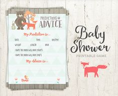 Baby Predictions & Advice Guess Game  Baby by StudioTwentyNine