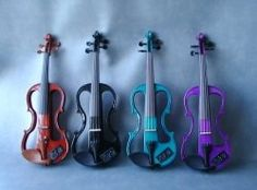 Electric Violins - sound cool, but I still like the real ones