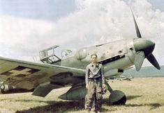 Hungarian Air Force Messerschmitt of ace Laszlo Daniel. Air Fighter, Fighter Pilot, Fighter Jets, Ww2 Aircraft, Military Aircraft, Luftwaffe, Air Force, Aviation World, German Soldiers Ww2