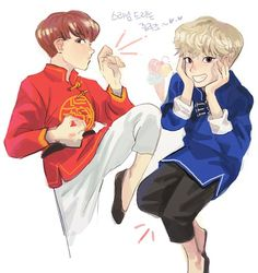 JUNHAO FANART, OH MY GYU-  //gets seizure//  NOT MADE BY ME.