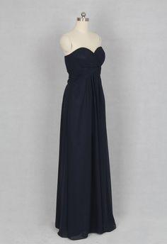 Dark Navy Bridesmaid Dress Aline Sweetheart by harsuccthing