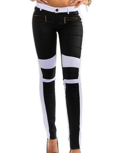 Color Block With Zips Awesome Leggings Awesome Leggings, Best Leggings, Only Online, Trousers, Pants, Fashion Online, Skinny Jeans, Fashion Outfits, Zip