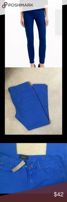 J. Crew toothpick ankle Sz 32 blue pants 28 inseam New J. Crew toothpick blue ankle pants . Sold out hard to found . J. Crew Jeans Ankle & Cropped