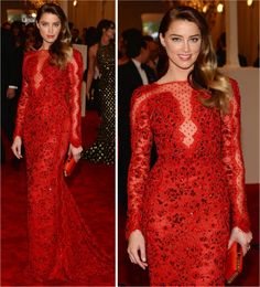 Amber Heard in the MET Ball 2013
